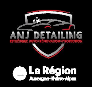 Logo ANJ Detailing avec La Région Auvergne Rhône Alpes